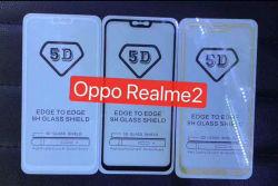 5D plein plein de colle couvercle protecteur de l'écran de protection protecteur pour oppo Realme 2