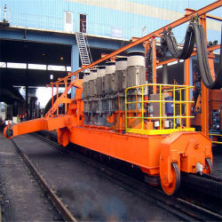 Bahntransport-Kohle, Erz und Korn, die Einheit aus dem Programm nimmt