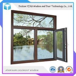 フランス様式によって焼かれるデザイン倍の緩和されたガラスのアルミニウム開き窓のWindows