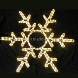 Décoration de jardin a conduit les flocons de neige 60cm Motifs de plein air de Noël