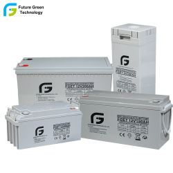 El verde de las Energías Renovables alimentación 12 V250AH plomo-ácido baterías solares