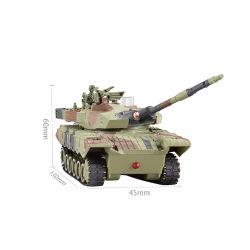 Новые военные Micro RC бака 1: 12 игрушка для дистанционного управления с корпуса топливного бака