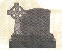 Tombstone-Denkmal aus schwarzem Naturstein SF-017 für Cremetery Garden