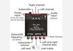 Scheda amplificatore subwoofer originale Zk-Tb21 Tpa3116D2 potenza a 2.1 canali 50wx2+100 W. Modulo audio stereo Bluetooth 5.0 Bass AMP