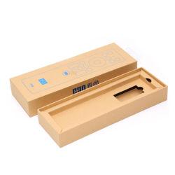 Пользовательские цвета печатаются в подарочной упаковке пера крафт-бумаги .