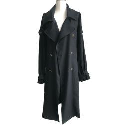 Образом настроенные ветровку куртка Double-Breasted траншея покрыть дамы долго пыли женщин покрыть с помощью ремня безопасности