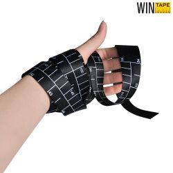 Soft Cool Polyester noir bande de ruban de mesure personnalisé