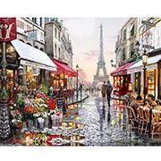 [شنيستوري] باريس شارع [ديي] صورة زيتيّة جانبا [نومبرس] مع إطار [هندبينتد] نوع خيش صورة زيتيّة