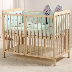 Madera maciza bebé cama cuna cuna cama para adultos empalme Plypen multifuncional