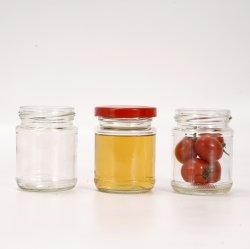 Comercio al por mayor Atasco de salsa de miel hermético de cristal de frascos con tapa