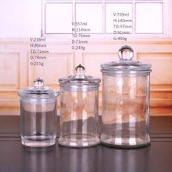 200ml 350ml Round Clear Glass Candle Holders(뚜껑이 있는 둥근 유리 캔들