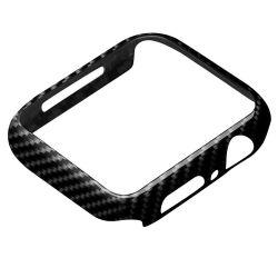 بالنسبة لعلبة مصد غطاء واقي حزام ساعة Apple Watch Band مقاس 40 مم 44 مم iWatch Series 6 5 4 Se Eye-Aye-Ahmisritaly Real Carbon إطار من الألياف