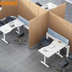 Ce Certificación UL Oficina Accesorios de escritorio de la viga de aluminio de energía eléctrica con toma de corriente, puerto de datos y la pantalla del panel de tela
