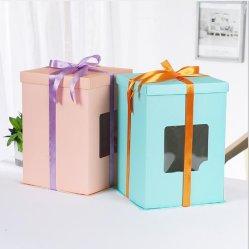スリー・イン・ワン・ベーキング・ウエディング・パーティ・バースデー・トール・ケーキ・クリア・ウィンドウ・ペーパー ボックス透明 PVC PP ペットプラスチックギフト包装カップケーキ形 Box Wholesale カスタム