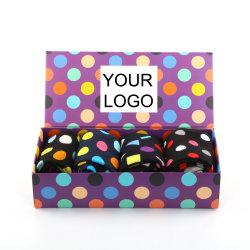 Stock de venta al por mayor de los calcetines de algodón peinado con cajas de regalo