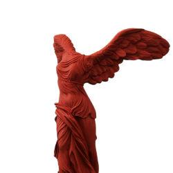 Resina natural esculpida Nova vida produto tamanho mármore grego Deusa Ornamento da vitória Estátua personalizada da Polyresina