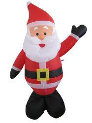4 أقدام ارتفاع مؤشر عيد الميلاد تفجير عملاقة زورق مطاطي سانتا ديكور كلاوسخارجية