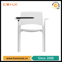 Armrestのライティング・テーブルのパッドが付いているスタック可能トレーニングの会議のオフィスの椅子