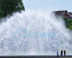 多彩な屋外湖の大きいダンス音楽水スクリーン映画噴水