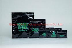 Tabak-Zigaretten-Zigarre-Blatt-Hanf Cbd Geruch-Beweis-Schwarz-Plastik-Fastfood- Beutel-flexibler mit Reißverschluss verpackenplastikbeutel