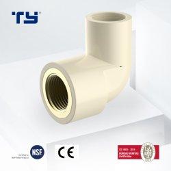 Tubo de latón de CPVC hembra Fittins codo con la norma ASTM 2846 estándar para el suministro de agua fría y caliente Dosen Tianyan OEM
