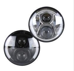 Lightech 7'' индикатор Auto фар ближнего света фар автомобиля фары с DRL RGB для автомобильного освещения
