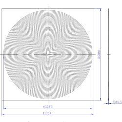 正方形型円形アクリルプラスチックフレネルレンズシート