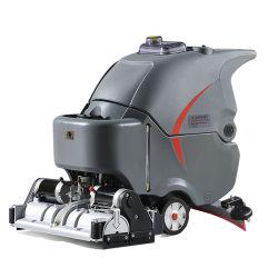 스크럽 기능이 있는 롤 브러시, 창고 및 학교 운동장 청소 장비 핸드 푸싱 유형 세정 - Sweeper