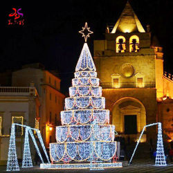 20pés 30 pés 40 pés 50 pés Piscina luzes LED Decoração de Natal PVC Artificial Árvore de Natal com a Star