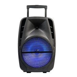 Micrófono inalámbrico recargable portátil de 15 pulgadas carro caliente del sistema de altavoces con Bluetooth