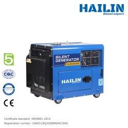 5kW Insonorizado, Enfriado por Aire, Silencioso, Eléctrico, Arranque Diesel, Generador de Energía Portátil.