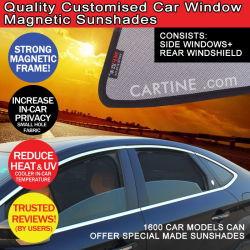 ستارة نافذة السيارة المغناطيسية، ستارة شمسية، احتواء على ظلال النافذة الجانبية