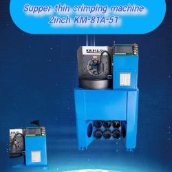 Industrielle Schlauchunterlage dünne Crimpmaschine Touchscreen-Steuerung km-81A-51C