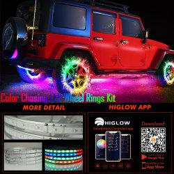 Ilumina resistente al agua 12V Anillo de luz de la rueda con varias de Control de la aplicación de Color