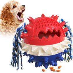インタラクティブな処置のおもちゃペット Chew のおもちゃの Squeaky の跳ね返りのおもちゃと 積極的な犬のチェウェー Esg17258 のためのロープ