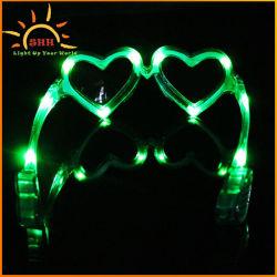 方法LEDフラッシュ男女兼用党供給のための白熱中心の形のサングラス