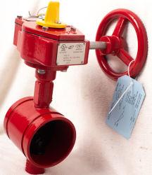 FM UL 화재 스프링클러 시스템 300psi 홈밀링형 버터플라이 밸브 신호 기어박스 포함