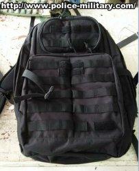 Grande sacchetto nero dello zaino dell'esercito militare resistente - CB001