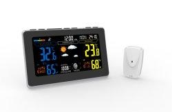 LCDデジタル時計の屋外センサーの無線電信433が付いている屋内屋外の温度カラー気象台
