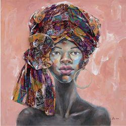 Tela pittura Africana Ritratto olio dipinti decorazione d'arte decorazione domestica