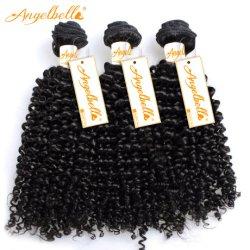 India Angelbella Rizo rizado cabello tejido 1b# Trama cabello humano.