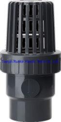 高いQulaityのプラスチックフィート弁UPVCの管連合フィート弁の製造業者のソケットの端UPVCは連合水フィート弁DIN標準Dia. 75mmDiaを選抜する。 160mm Pn10