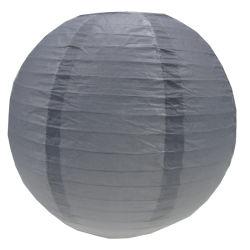 Gradiente cinza ronda decorativa lanternas de papel
