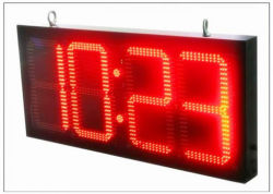 Horloge LED 12inch R/G/B/W/Y voyant de contrôle sans fil du temps de signer 88 : 88