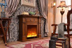 Design Personalizado Luckywind Interior de alta qualidade utilizado de forma autónoma Electric Brown Lareira de madeira 323