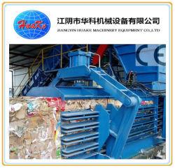 Ramasseuse-presse Presse à balles automatique horizontal pour les déchets de papier Corbeille /Carboard/plastique