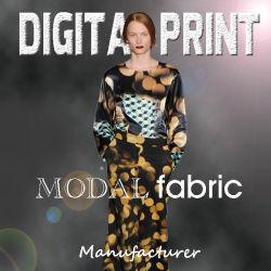 Цифровая печать на кашемир для проектирования шарфы, 10% кашемира, 90% модала (M069)