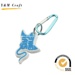 Goedkope Maar Cool Customize Carabiner Pvc Key Rings Ym1114