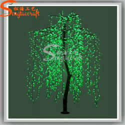 Affascinante pianta artificiale LED Natale luce Willow Tree