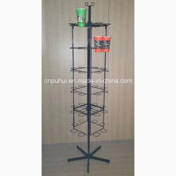 Fil de fer détenteur de forme libre les cuvettes de vente au détail en plastique de plancher permanent de l'affichage de rack (PHY2032)